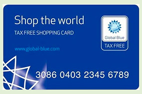 Карта TAX FREE SHOPPING
